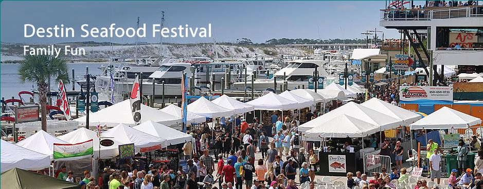 Come to the Destin Seafood Festival. Destin FL. Sept 30 - Oct 2, 2016