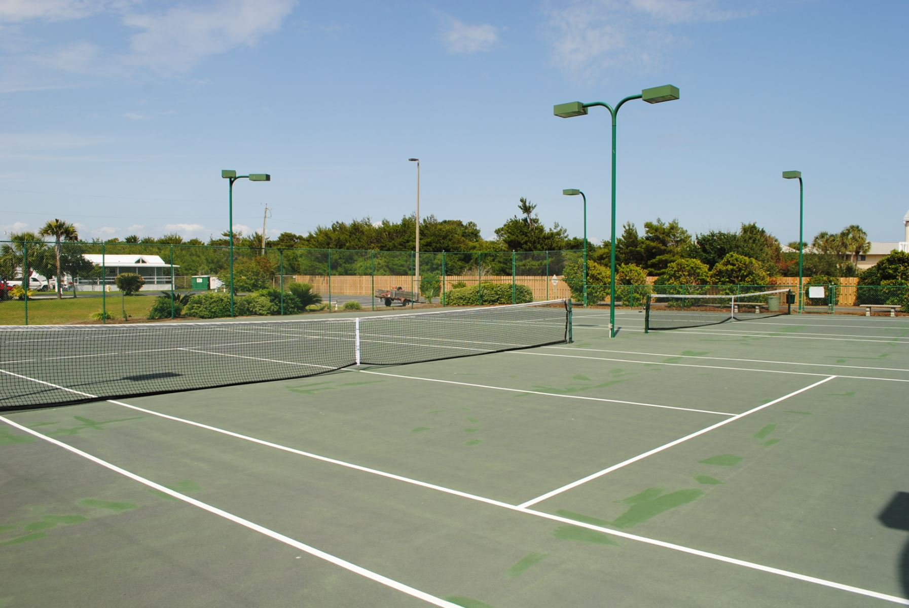 Do you Tennis? You will have free access to 2 lighted courts. Enjoy!