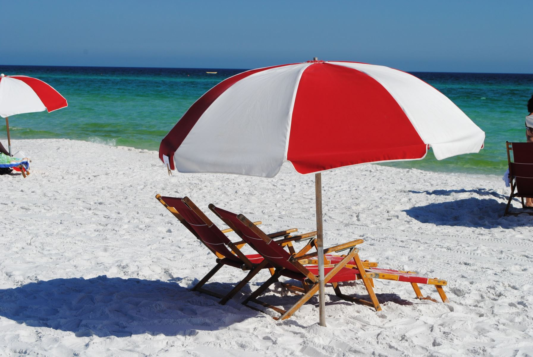Enjoy Free Beach Service While at Ciboney. Umbrella and 2 Chairs Set-up Waiting forYou