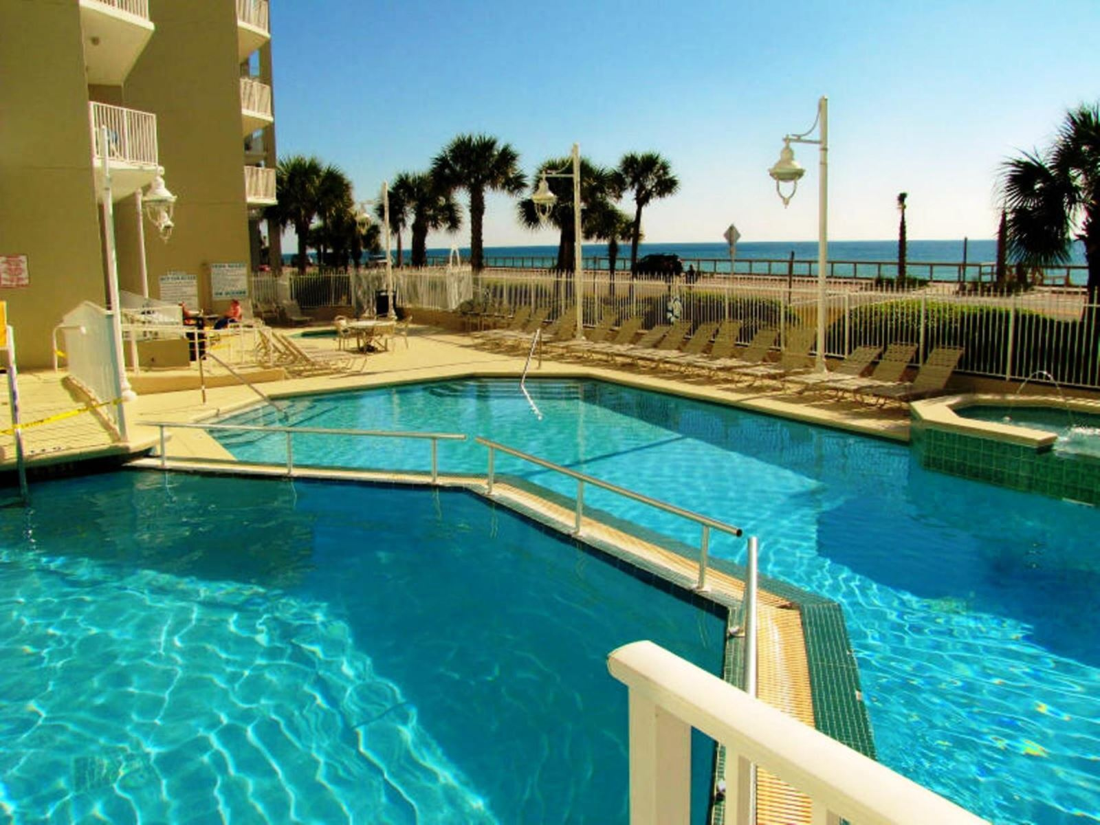 Large Pool faces the Beach at Majestic Sun in Miramar Beach near Destin FL