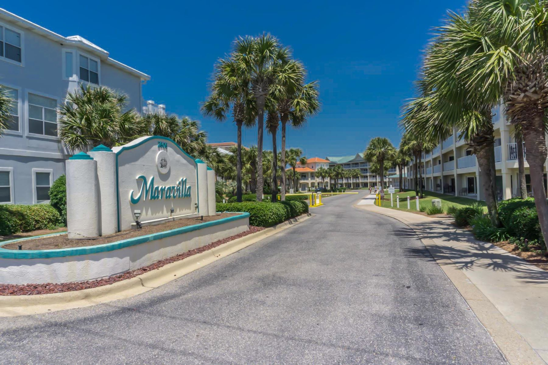 Maravilla in Miramar Beach near Destin FL. Entrance from 2606 Scenic Gulf Drive.