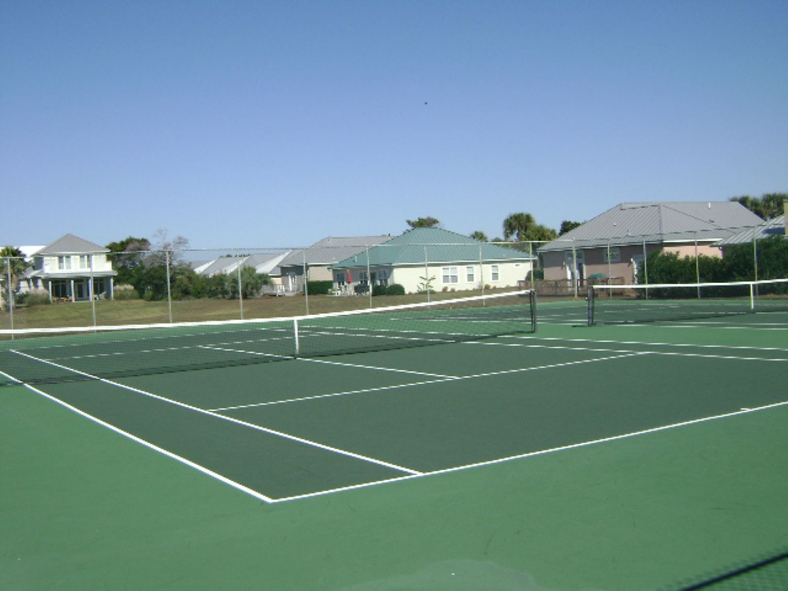 Free tennis for Maravilla Guests. Two newly refinished courts. First come, first serve!